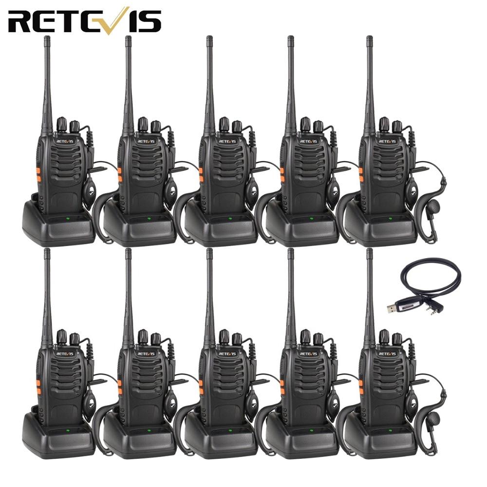 10 pièces Talkie Walkie Retevis H777 UHF 400-470 MHz 16CH Jambon Radio Hf Émetteur-Récepteur 2 Way Radio Communicateur comunicador Pratique