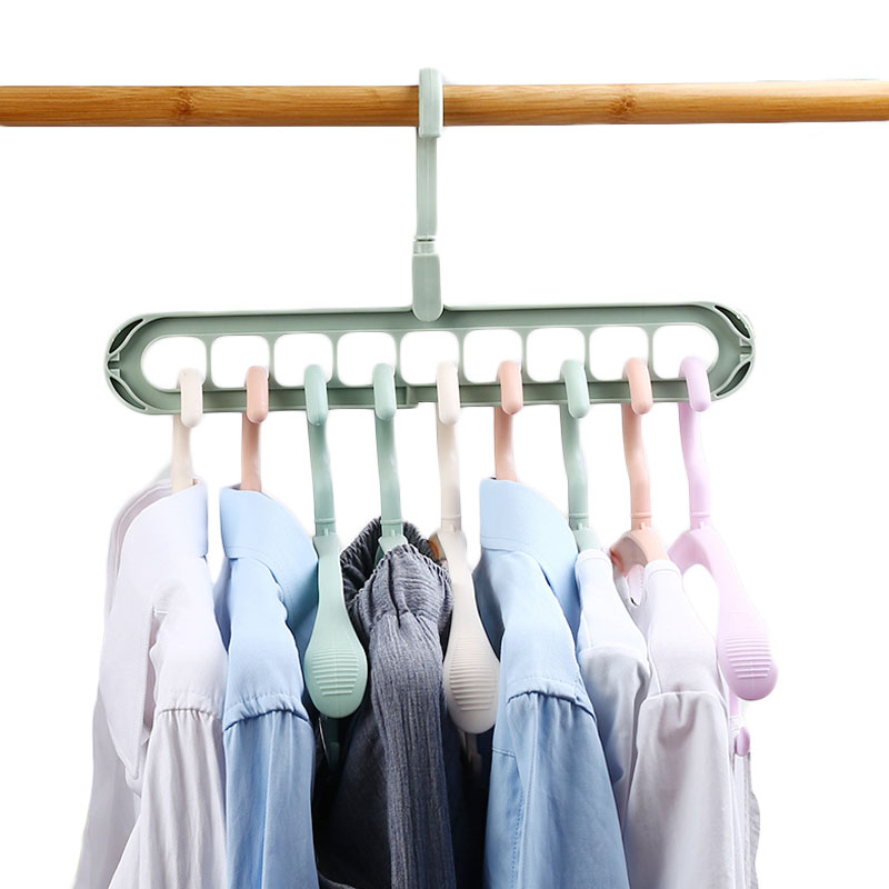 Home Storage  Multi-port Support Circle Clothes Hanger Clothes Drying Rack Multifunction Plastic Scarf Clothes Hangers S