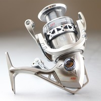 Shallow Spool Fishing Vessels Mini Spinning Fishing Reel silver color