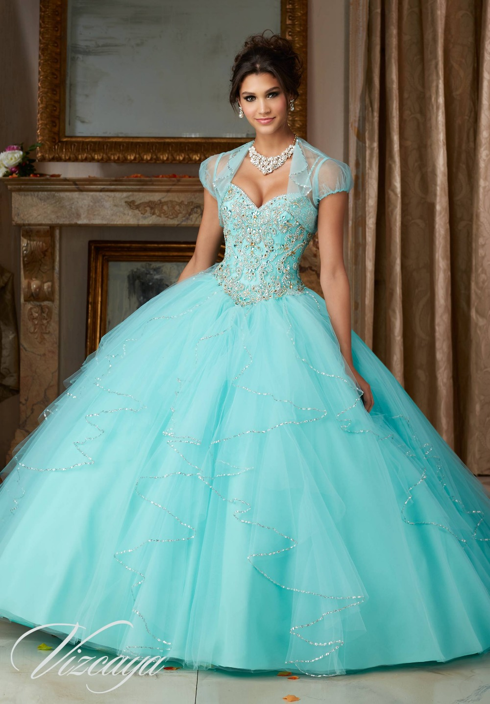 Aqua Blue Quinceanera Dresses Reviews - Online Shopping Aqua Blue ...