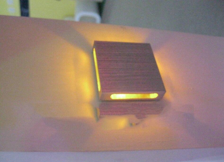 Lâmpadas de Parede recesso quadrado fino com unidade Técnica : Perfurado