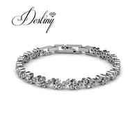 Schicksal Schmuck mit kristallen Verziert von Swarovski armband Joyful armbänder & bangleslove armband DB0038