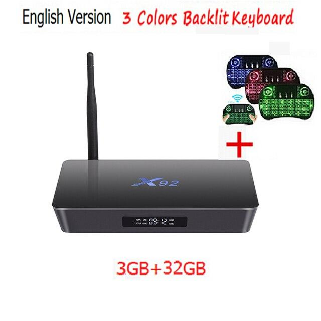 Original 3GB 16GB 3GB/32GB X92 Amlogic S912 Android 6.0 TV Box Octa Core Kodi 16.1 Fully Loaded 5G Wifi 4K X92 Smart Set Top Box