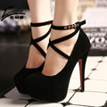 17 Sexy Mulheres Bombas Plataforma Inferior Vermelha Sapatos de Salto Alto Senhoras Sapatos de Casamento Festa de Mulheres calçado chaussure femme garra