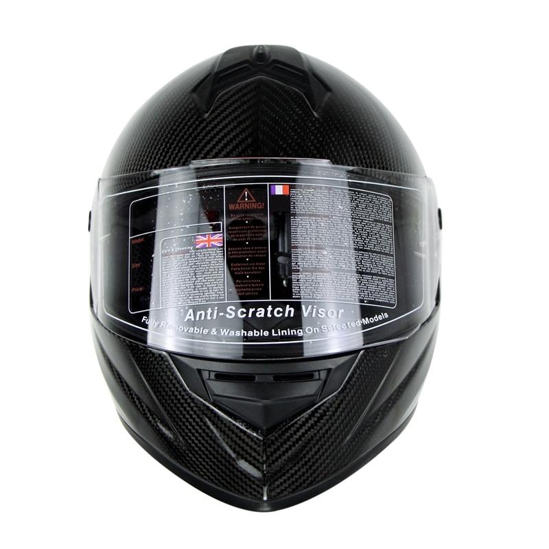 3K Carbonfiber Motosiklet Tam Üz Dəbilqəsi Motorbike Steet Racing - Motosiklet aksesuarları və ehtiyat hissələri - Fotoqrafiya 4