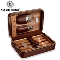 CIGARLOONG Eggplant Cigar Moisturizing Box Alcohol Cork Snow Moisturizing Box Large Capacity Cigar Box Set Cigarette Box TT 1002