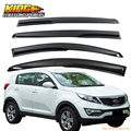 For 11-16 Kia Sportage 3rd Gen Smoked Aero JDM Wind Deflector Stick On Window Visors USA Domestic Free Shipping