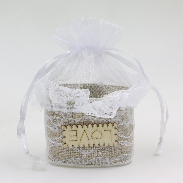 Wedding Gift Boxes bags with love letters lace ribbon Organza gift ...
