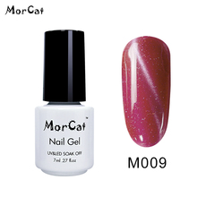 MorCat 10ml Cat Eye Gel Nail Polish Not Moving Line Semi Permanent Magnetic Varnish Lacquer Soak off