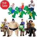 New 2016 Fan Kids Adult Inflatable T Rex Gorilla Sumo Cow Horse Unicorn  Costume Women Men Cosplay Inflatable Dinosaur Costume