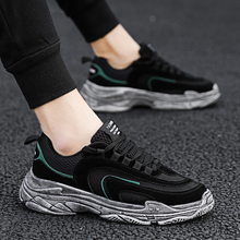 High Heel Top Sneakers Men Unisex Upper Breathable Shoes Fashion Retro Brand Couple Black / White Casual Lace up