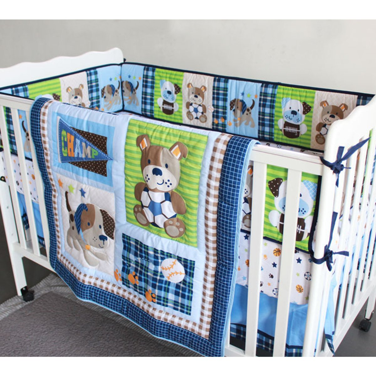 Ups Free New 3 Pcs Beatles Baby Cot Set Bedding Crib For Baby Sheets Comforter Quilt Sheet Bumper The Latest Fashion Baby Bedding
