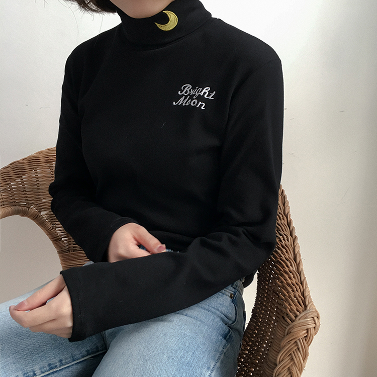 2018 Women/'S Punk Harajuku Ulzzang Embroidery Moon Letter Pullover Hoodies Female Korean Kawaii Tops Svitshot For Women