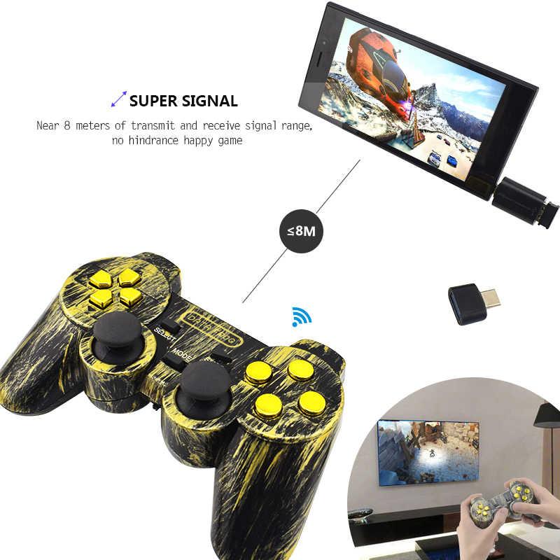 Беспроводной контроллер данных Frog 2,4G Android, джойстик типа C для Android, смарт-телефон, джойстик для ПК, для PS3, ТВ-приставка