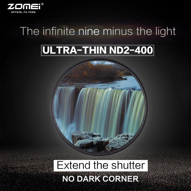 Zomei 77mm Fader Variable ND Filtre 40.5mm Réglable ND2 à ND400 ND2-400 Densité Neutre pour Canon NIkon Hoya sony Camera Lens