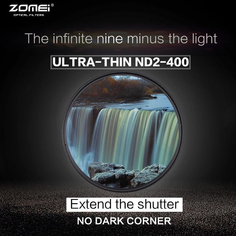Zomei 77mm fader variable nd filtro 40.5mm ajustable ND2 a nd400 nd2-400 densidad neutra para Canon Nikon Hoya sony Objetivos para cámaras