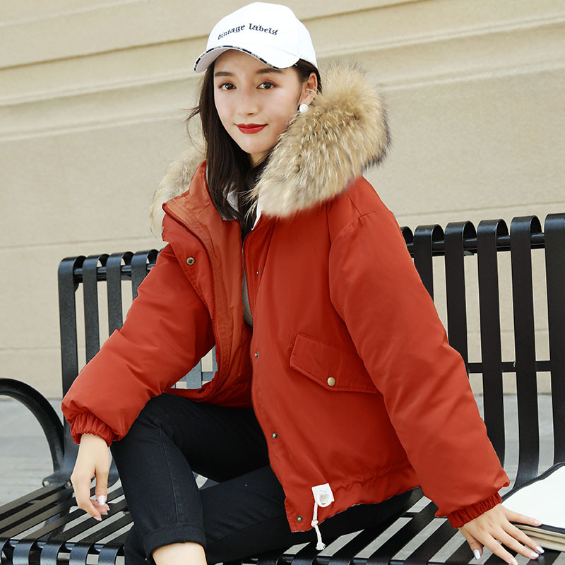 Raton Style Haute Manteau Grand Femelle Bas Col 2018 Veste Coréen rose Nouvelle De Laveur Canard Fourrure Qualité Le Conception Court Vers Red Hiver Femmes an7AEPxt