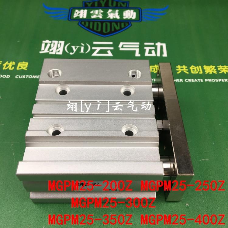 MGPM25-200Z MGPM25-250Z MGPM25-300Z MGPM25-350Z MGPM25-400Z MGPL Pneumatic components Thin three Rod Guide Pneumatic Cylinder компрессор аллигатор al 300z
