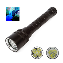Diving Flashlight Torch 3/5*T6 L2 12000lums Dive torch 200M Underwater Waterproof Tactical led Flashlights Lantern lamp