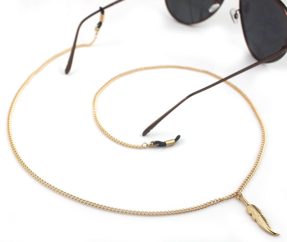 f094531b8d277 GL130 10 Pçs lote Frete Grátis bela pena do metal do vintage cadeias de  óculos titular