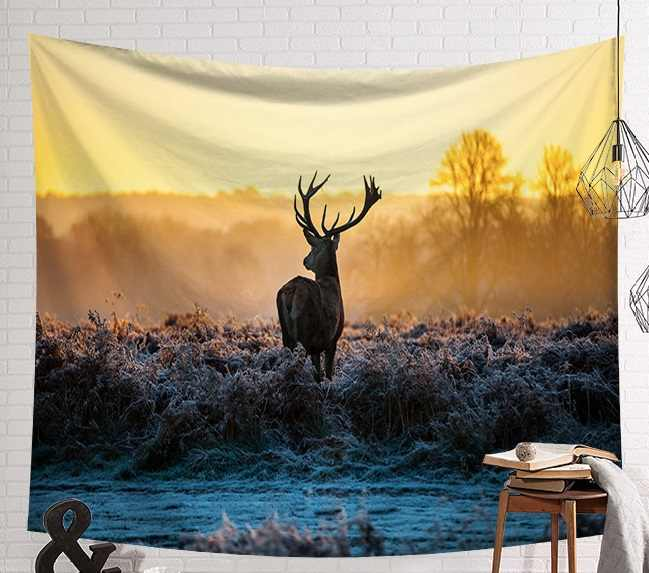 CAMMITEVER Wild Deer Tapestry Hippie Home Decorative Wall Hanging Tapestries Deers Towel Yoga Mat Bedspread Table Cloth