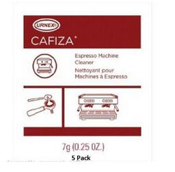 лучшая цена URNEX CAFIZA FIVE PACK ESPRESSO MACHINE CLEANING POWDER 1/4 oz (7g) 5 PACK
