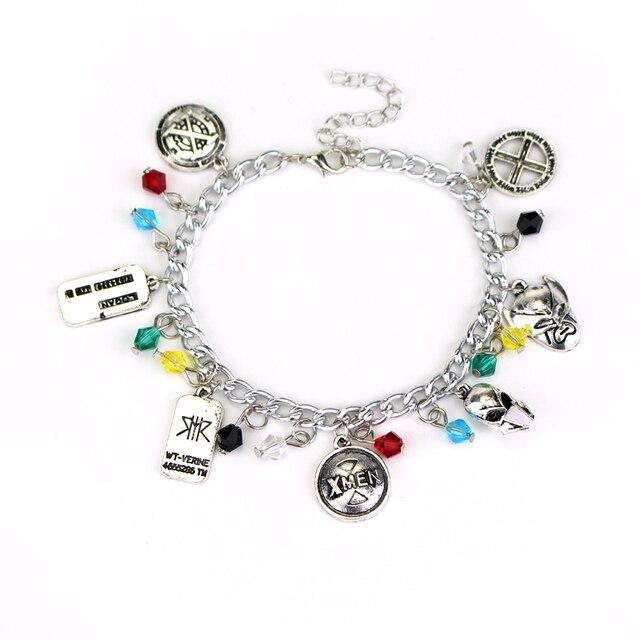 New Design Women Bracelet Shield Dog Tag X Logo Pendants Men Charm Silver
