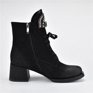 Image 4 - MORAZORA gran oferta botines de mujer con cremallera + cordones botas de invierno otoño moda de cristal zapatos de tacón alto Mujer