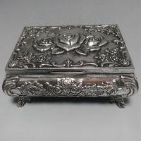 China Folk old beautifully Tibet Silver Jewelry box Statue