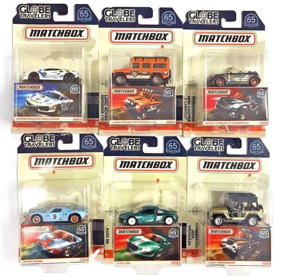 Matchbox Car 1:64 Sports Car AUDI FORD JEEP MINI COOPER Collector Edition Globe Travelers Metal Diecast Model Car Kids Toys Gift