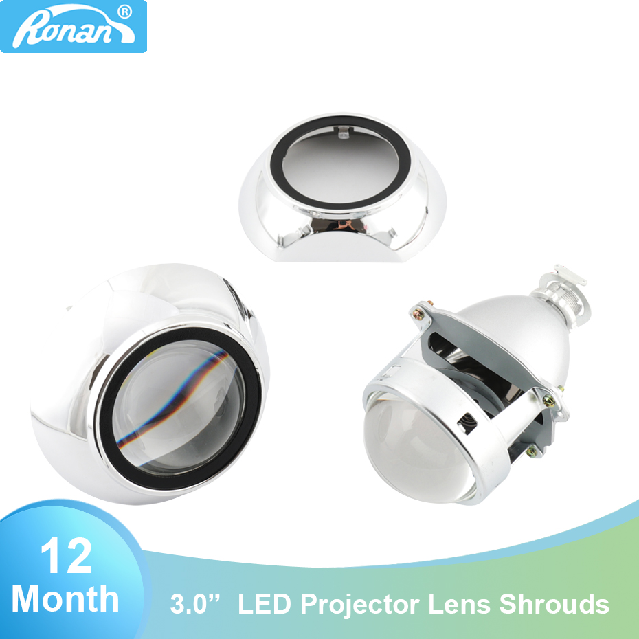 RONAN Car Styling 3 0 HID Metal Headlight Projector Lens use Xenon Lamps H1 with H4