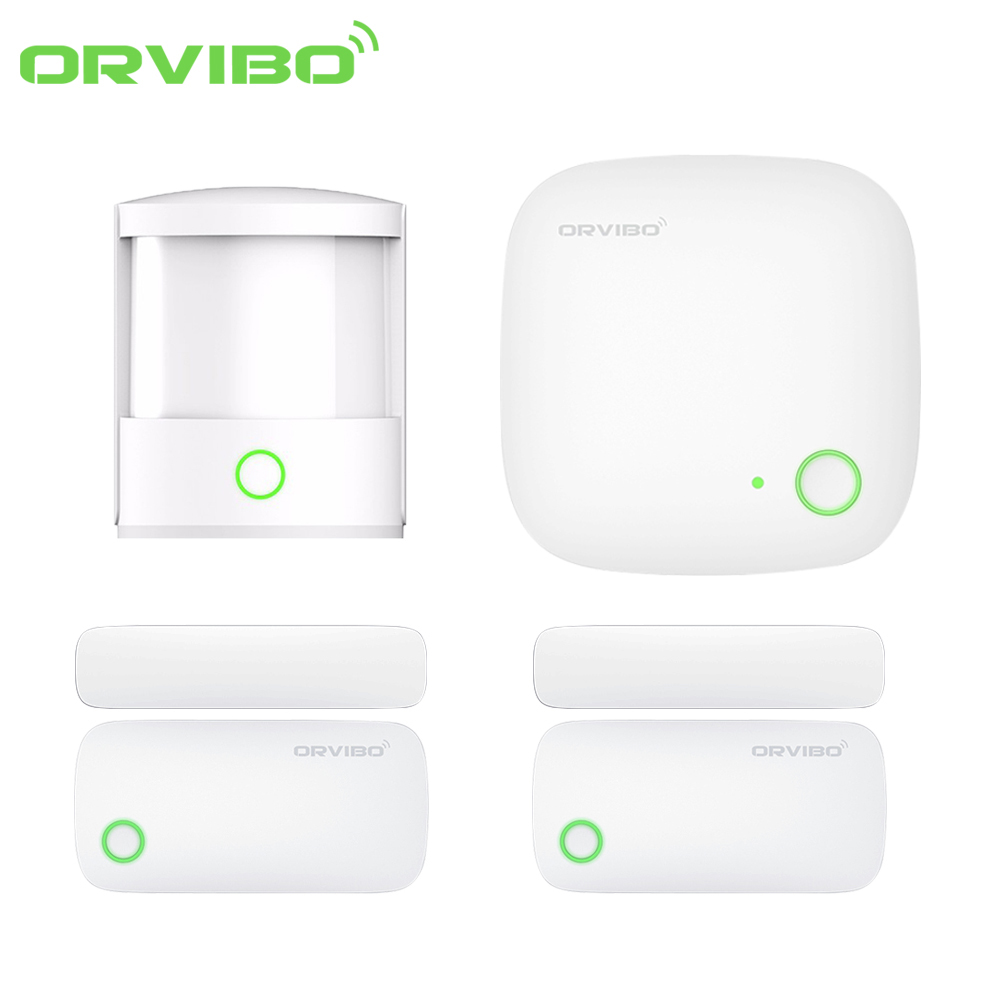 Original ORVIBO Smart Home Automation 4 in 1 Security Kit Zigbee Sensor Smart Remote Control Motion Sensor Door/ Window Sensor telematics applications in automation and robotics 2004