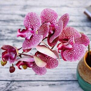 Image 2 - 3D Künstliche Schmetterling Orchidee Blumen Gefälschte Motte flor Orchidee Blume für Home Hochzeit DIY Dekoration Real Touch Home Decor Flore