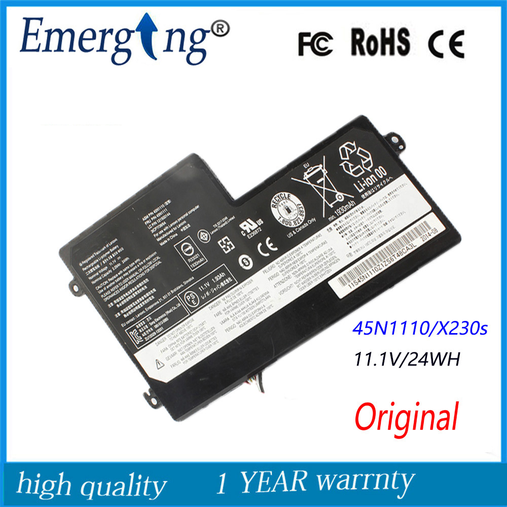 11.1V 1930Mah New Original Laptop Battery for Lenovo thinkpad T440S T440 X230s X240 S440 Series 45N1110 45N1111 45N1112 6 cell original laptop battery for t440s t440 x240 touch 45n1128 45n1129 10 8v 48wh
