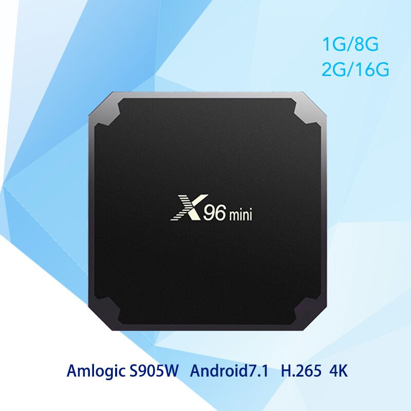 X96 mini Android 7.1 TV BOX 2GB 16GB Amlogic S905W Quad Core Suppot 2.4GHz WiFi Media Player TV Box PK TX3 mini