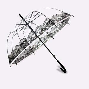 Image 4 - PALONY Transparent Lange Griff Regen Regenschirm Ultra Licht Frauen Kinder Sonnenschirm Regen Regenschirm Halbautomatische Weibliche Regenschirme