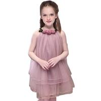 Flower Girls Dress For Baby Kids Summer Clothes 2018 New Cute Sleeveless Ball Gown Girls Party