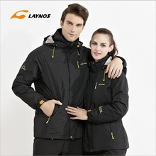 Free Shipping-New Hot sale Winter Lover Couple Outdoor Sport 3in1 Twinset Water/Windproof Skiing Mountaineering Jackets 160D321D