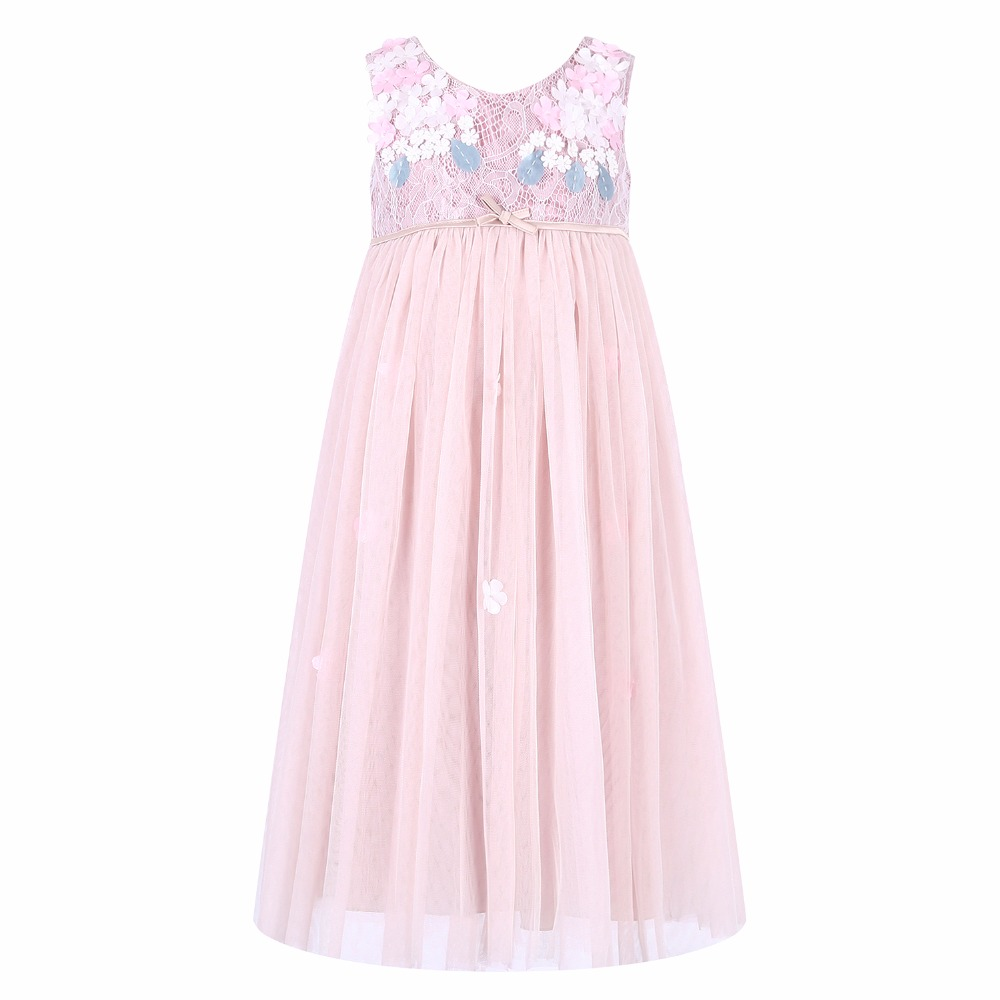 Princess Dress Robe Fille 2017 Brand Girls Summer Lace Dress with Bow Children Costumes Kids Party Dresses for Girls Clothes lcjmmo new girls party dresses summer 2017 brand kids bow plaid dress princess costumes for girl children clothes 2 7 years