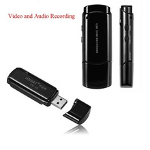 Marca Nuevo Disco USB DVR Grabadora de Voz de Super Con Audio y Grabación De Vídeo Unidad Flash USB Negro/Blanco Color Pen Drive