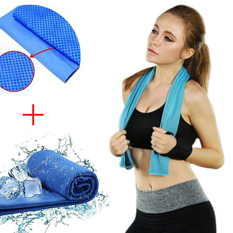 Instant Cooling Towel When Wet Sports Gym Workout Cycling Jogging Odour Reducing