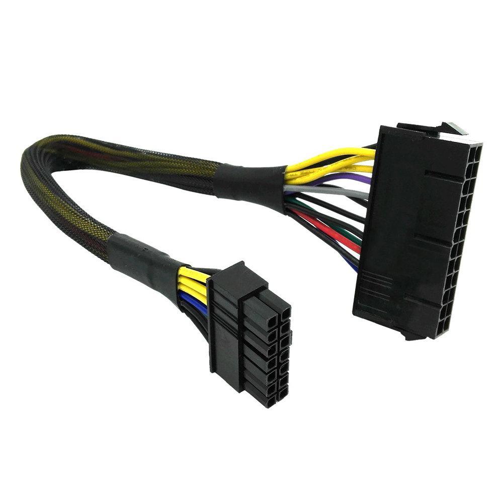NEW 24 Pin to 14 Pin Power Supply ATX Cable for Dell H81 B75 A75 Motherboard Connector Cable Power Cable