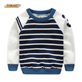 Autumn Winter Stripe Boys T Shirt Long Sleeve Brand T-shirts for Boys Cotton Children Boy Clothes Baby Hoodies Pullover Kids Top