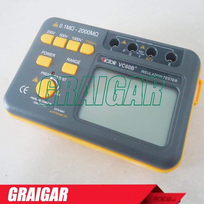VC60B+ Digital Insulation Tester Megger MegOhm Meter +free shipping  цены