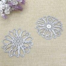 Julyarts 2Pcs Sun Flower Metal Cutting Die Stencil Troqueles De Corte Scrapbooking Card Making Crafts Cut