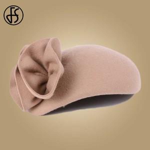 Image 5 - Fs 女性ウールの魅惑的な帽子結婚式の女性のエレガントなティーパーティー正式なヴィンテージピルボックス hatfelt 花 fedoras 帽子ファム