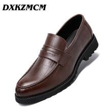 e54ca29a DXKZMCM hechos a mano vestido de los hombres zapatos de cuero Formal  hombres de negocios Oxfords zapatos de boda Brogue zapatos