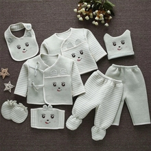 Emotion Moms (8pcs/set) Infant Clothes 0-3M Newborn Baby Suits Toddler Clothing Sets Kids Boys Girls Suit Thermal Organic Cotton