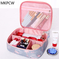New Portable Toiletry Cosmetic Bag Waterproof Makeup Make Up Wash Organizer Zipper Storage Pouch Travel Kit
