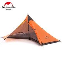 Новое поступление Naturehike 1 человек брезент палатка одного человека без полюса Сверхлегкий Пирамида Открытый Туризм Кемпинг палатки